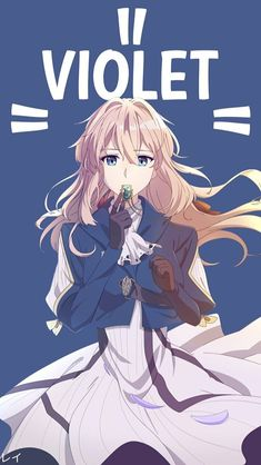 Violet Anime Character Names, Character Art, Chibi, I Love Anime, Beautiful Anime Girl, Violet Evergarden Wallpaper, Violet Evergreen, Violet Evergarden Anime, Fanart