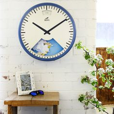 Designed and handmade in Britain, these inventive wall clocks by Bramwell Brown are inspired by traditional barometers.
