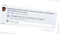 Turn on Comment Reply links on Facebook Pages