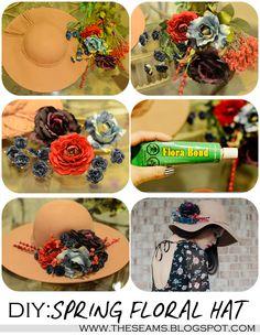 DIY:Tea Party Floral Hat
