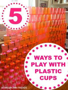 5 Ways to Play with Plastic Cups - Homegrown Friends Stem Activities, Activities For Kids, Crafts For Kids, Activity Ideas, Girl Camping Parties, Stem School, Indoor Camping, Stem Projects, Gross Motor Skills
