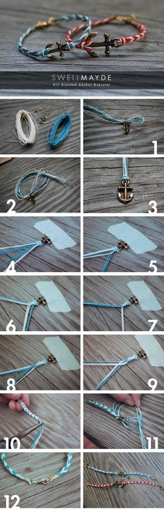 Braided Anchor Bracelets! It's so pretty!