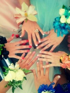 Prom Photography Ideas - Nails and Corsages Homecoming Pictures, Prom Photos, Prom Pics, Senior Pictures, Bff Pics, Prom Picture Poses, Picture Ideas, Pic Pose, Prom Photography
