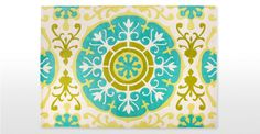 The multicolour Moroc Rug, 170 x is a contemporary interpretation of Moroccan tiling. Handmade by artisans in India - each one helps fight child labour. Dining Table In Living Room, Living Rooms, Turquoise Rug, Bee Theme, Living Room Inspiration, Rug Making, Creative Inspiration, Wool Rug, Outdoor Blanket