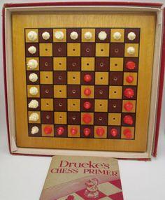 Vintage Druekes Chess Primer 1940s Travel Game 32 by retrogal415