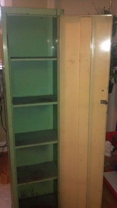 Restoring a rusty metal cabinet