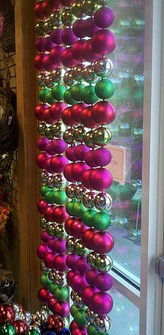 Christmas Ornament Hanging Curtain
