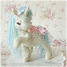 needle felted unicorn
