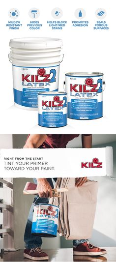 KILZ LATEX is a fast drying, water-base, multi-purpose primer-sealer-stainblocker that can be topcoated with latex or oil-base paint. Fast Furniture, Furniture Repair, Furniture Outlet, Furniture Companies, Furniture Stores, Luxury Furniture, Painting Tips, Painting On Wood, Floor Painting