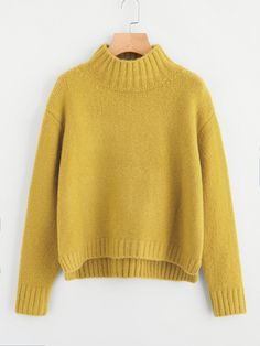 To find out about the Drop Shoulder Stand Collar Sweater at SHEIN, part of our latest Sweaters ready to shop online today! Shoulder Stand, Cardigan Fashion, Cable Knit Sweaters, Cardigans For Women, Types Of Sleeves, Polyvore, Turtle Neck, Pullover, Sweatshirt