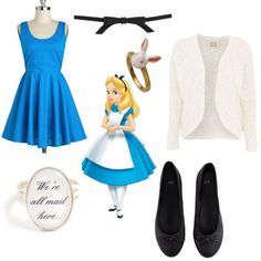 How To Dress Like Alice In Wonderland Characters, Polyvore | Gurl.com Alice In Wonderland Outfit, Alice In Wonderland Characters, Wonderland Costumes, Wonderland Party, Disney Inspired Fashion, Mad Hatter Party, Mad Hatter Tea, Baby Girl Birthday, Party Entertainment