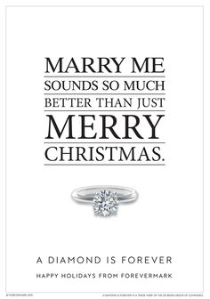 Let him know what's on the top of your wishlist, like this round solitaire diamond engagement ring, and you'll be sure to have a Merry, Marry Christmas. Happy Holidays from Forevermark. #ADiamondIsForever