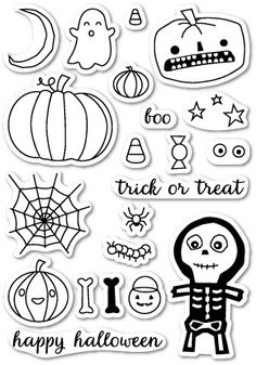 Memory Box Clear Stamps HALLOWEEN SIDESHOW Open Studio CL5160 at Simon Says STAMP!