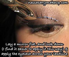 NessasaryMakeup: Tutorial: How to apply false eyelashes