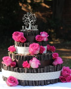 This wedding biltong cake has accents of pienk and brown made with 3 tiers for guest to enjoy. The biltong and droewors cake is custom decorated with roses in shades of pink with brown ribbon to compliment the theme of the wedding and to add a beautiful touch to the desert/snack table. MK Biltong Imagineer can custom design and make a biltong cake for you in any colour and size for your special occasion. Biltong, Big Cakes, Cake Ideas, Compliments, Special Occasion, Wedding Cakes, Custom Design, Ribbon, Roses