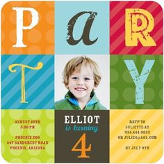 Party Hodgepodge - Birthday Party Invitations - Hello Little One - Surf - Blue : Front