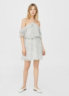 Printed ruffle dress | MANGO