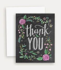 Gracias flores con Color gracias pizarra arte por LilyandVal