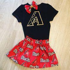 Arizona Diamondbacks baby toddler girl outfit  https://www.etsy.com/listing/521096318/arizona-diamondbacks-baseball