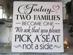Wedding Seating Plan Sign Casual seating plan by AndTheSignSays