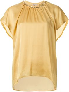 Lanvin Draped Sleeve Blouse - Cumini - Farfetch.com