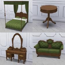 Mod The Sims - Antique Bedroom from TS3