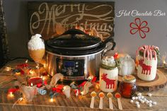 Hot Chocolate Bar with Don Victor Honey Holiday Gift Baskets, Diy Holiday Gifts, Holiday Parties, Potato Pie, Sweet Potato, Orange Blossom Honey, Hot Chocolate Bars, Holiday Recipes, Crock