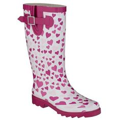 We secretly heart these (well) heart rain boots...they will bring you right back to 3rd grade...but in a really good way....