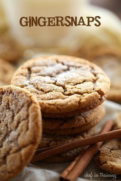 These GINGERSNAPS are soft and chewy and absolutely DELICIOUS!