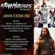 """Dwayne """"The Rock"""" Johnson's Hercules Workout"""