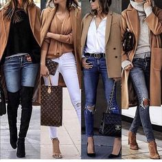 I love these classic camel coat outfits Trendy Fashion, Luxury Fashion, Fashion Looks, Fashion Outfits, Womens Fashion, Fashion Tips, Fashion Styles, Jean Outfits, Fall Winter Outfits
