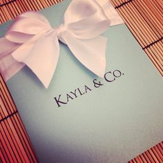 Tiffany Invitations $3.00/each 5.5 x 4.25 -includes white addressed envelopes -can add RSVP card, or colored envelope (addt'l)