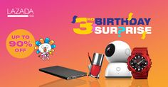 Find hot offers, best deals and discounts on countless number of items on Lazada 3rd Anniversary Sale