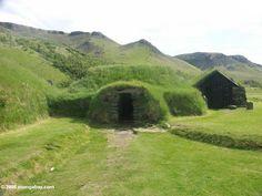 Icelandic turf houses at Skogar