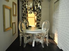 Romantic Ghost Chairs Dining Room