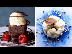 Recipes of the day : 10 Chocolate Decoration Ideas to Impress Your Dinner Guests – Chocolate Dessert Hacks by So Yummy Köstliche Desserts, Best Dessert Recipes, Delicious Desserts, Chocolate Diy, Chocolate Desserts, Dinner Party Games, Dessert Decoration, Chocolate Decorations, Easy Food To Make