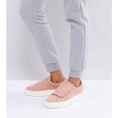 4dfb45433ef5 Puma Suede Strap Platform Sneakers In Pink - Pink
