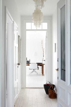 light wooden floor (via dustjacket attic: A Danish Apartment)