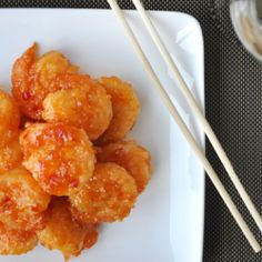 Crackerjack Shrimp tossed with a sweet, tangy and slightly spicy glaze.