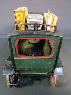 Carette Limousine Circa 1910 German Tin Clockwork 16 inch Toy Car.