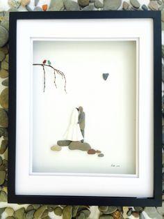 Wedding Gift Pebble Art