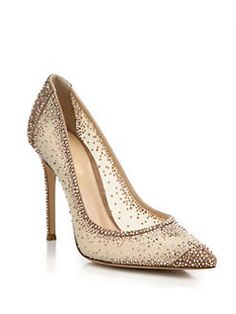 Gianvito Rossi - Mesh & Crystal Point-Toe Pumps