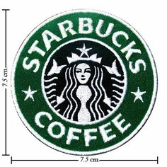 Amazon.com: Starbucks Coffee Logo Embroidered Sew Iron on Patches Great Gift for Dad Mom Man Woman: Arts, Crafts & Sewing