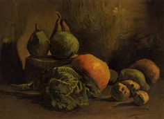 Still Life With Vegetables And Fruit Painting by Vincent Van Gogh Reproduction Vincent Van Gogh, Van Gogh Museum, Art Museum, Van Gogh Still Life, Van Gogh Pinturas, Van Gogh Paintings, Flower Paintings, Impressionist Artists, Still Life
