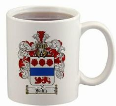 Baille Coat of Arms Mug / Family Crest 11 ounce cup $15.99