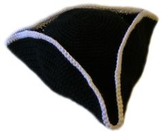 ♥♥♥ Free Crochet Patter: Pirate Hat - 5 Sizes (NOTE: You have to sign up for newsletter to get pattern.)