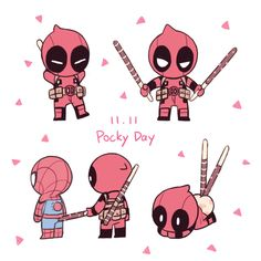 Deadpool Fan Art, Deadpool X Spiderman, Spideypool Comic, Superfamily, Marvel Memes, Marvel Avengers, Harry Potter Drawings Easy, Chibi, Avengers Drawings