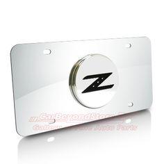 Nissan 350Z Z Logo Chrome Steel License Plate - Brand New Official Licensed Product - $35.95