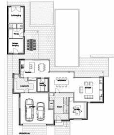 Luc Groosman uploaded this image to 'archifolio'. See the album on Photobucket. House Plans One Story, Dream House Plans, Beautiful Interiors, Beautiful Homes, Future Buildings, Planer, Interior And Exterior, Sweet Home, Floor Plans