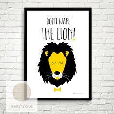 """Plakat+""""Don't+wake+the+lion""""+A3++w+MAGICZNY+SKŁAD+na+DaWanda.com"""